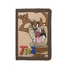 Wild Taz™ Tri-fold Wallet at Zazzle