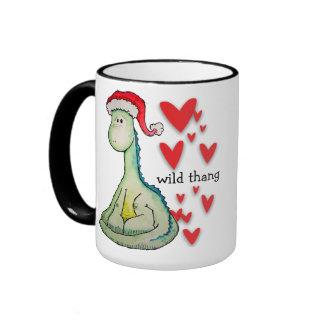 """""""Wild Thang"""" Christmas Dinosaur Coffee Mug"""
