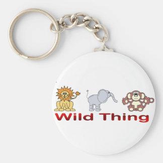 Wild Thing Basic Round Button Keychain