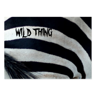 WILD THING BUSINESS CARD TEMPLATES