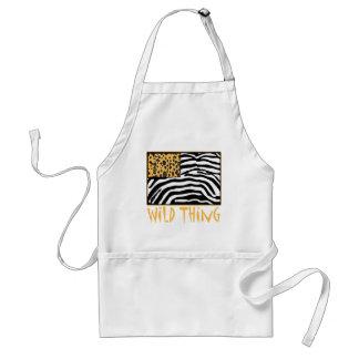 Wild Thing! Cool Animal Print design Adult Apron