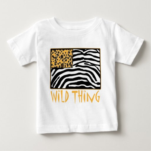 Wild Thing Cool Animal Print Design Baby T Shirt Zazzle