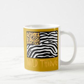 Wild Thing! Cool Animal Print design Classic White Coffee Mug