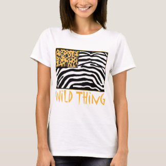 Wild Thing! Cool Animal Print design T-Shirt