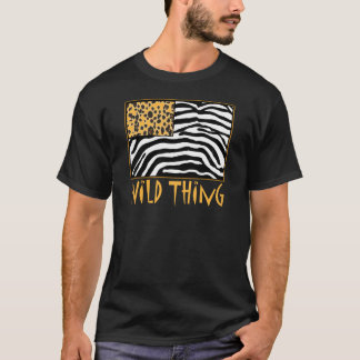 Wild Thing! Cool Animal Print design T-Shirt