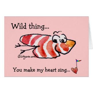 Wild Thing Cute Heart Valentine Card
