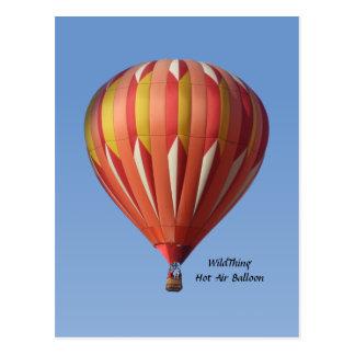 Wild Thing Hot Air Balloon Postcard