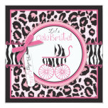 Wild Thing Invitation Square Pink