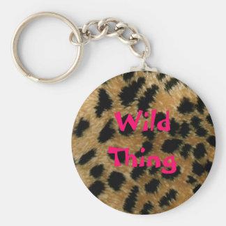 Wild Thing leopard print keychain