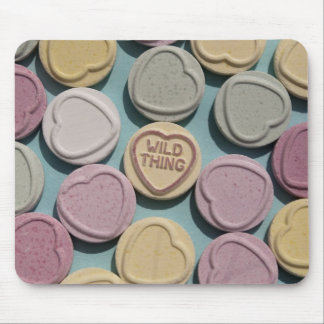Wild Thing Love Heart Mouse Mat
