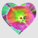 Wild Thing - Neon Colours Heart Stickers