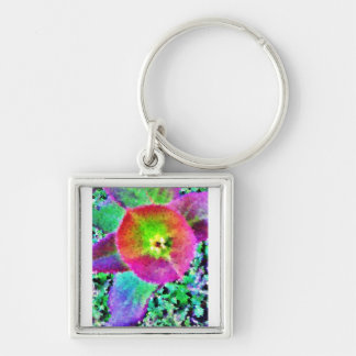 Wild Thing - Neon Colours Silver-Colored Square Keychain