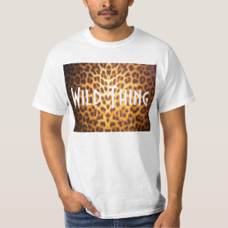 WILD THING on Leopard print Tee