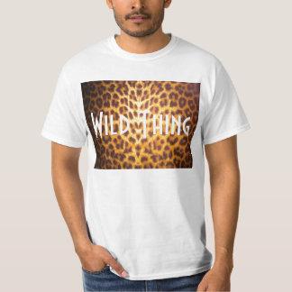 WILD THING on Leopard print Tee
