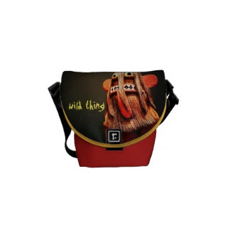 """""""Wild Thing"""" Quote Cute Fun Silly Face Photo Mini Courier Bag"""