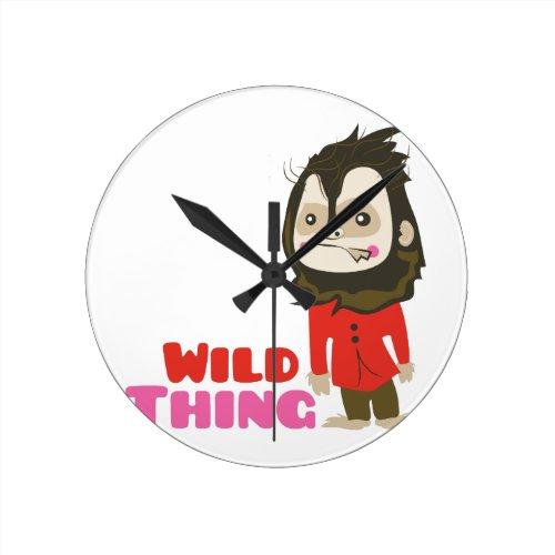 Wild Thing Round Clock