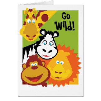 Wild Thing - Safari Birthday Card