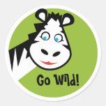 Wild Thing - Sticker - Zebra