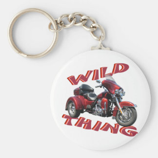 Wild Thing Trike Basic Round Button Keychain