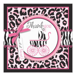 Wild Thing TY Square Personalized Invites