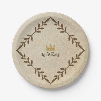 Wild Thing Vine Paper Plate