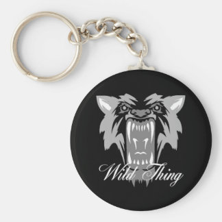 Wild Thing Wolf Keychain