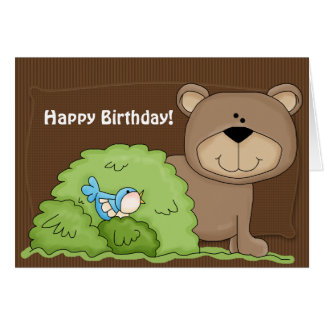 Wild Things Beary Happy Birthday Greeting Card