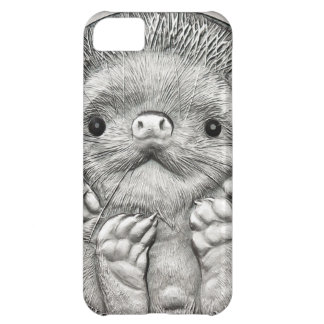 WILD THINGS: Little Silver Hedgehog Cover For iPhone 5C