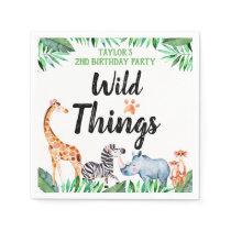 Wild Things Safari Animal Wild Things Birthday Napkins