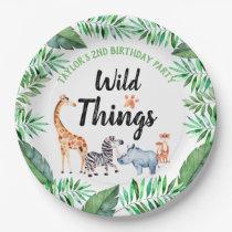 Wild Things Safari Animal Wild Things Birthday Paper Plate