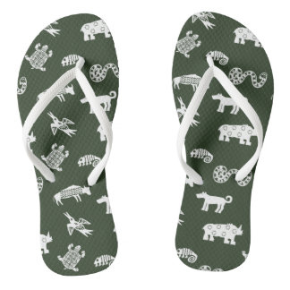 Wild Things White Flip Flops