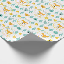 Wild Things Woodland Animals Fox Personalized Wrapping Paper