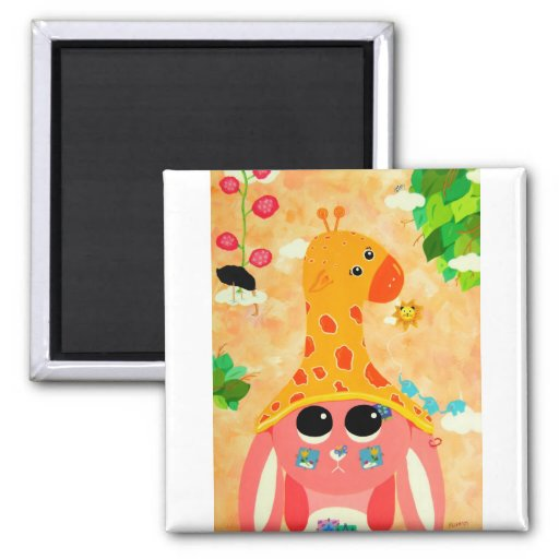 Wild Thoughts 2 Inch Square Magnet