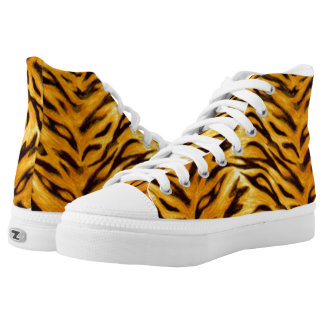 Wild Tiger Animal Design by zizzago Printed Shoes