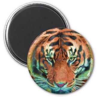 Wild Tiger Big Cat Wildlife Art Magnet