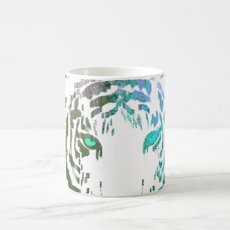 Wild Tiger//Blue Coffee Mug