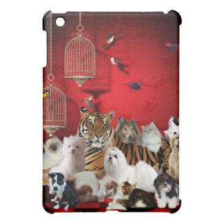 Wild Tiger Dogs Cats Animals Cover For The iPad Mini