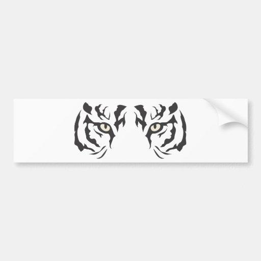 Wild Tiger Eyes Bumper Stickers