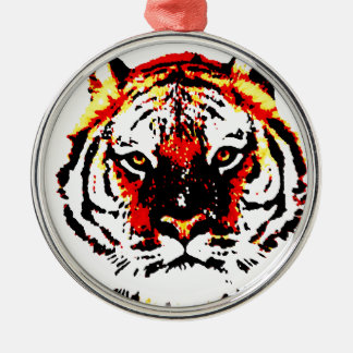 Wild Tiger Eyes Metal Ornament
