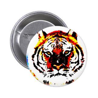 Wild Tiger Eyes Pinback Button