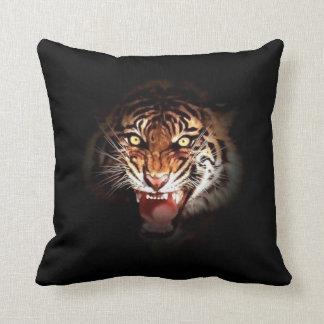 Wild Tiger Eyes Throw Pillow