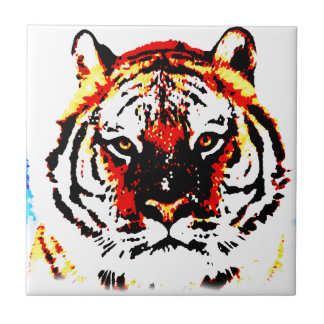 Wild Tiger Eyes Tile