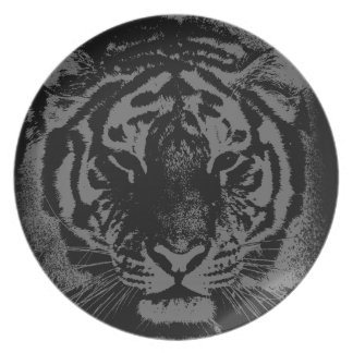 Wild Tiger Face Melamine Plate