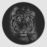 Wild Tiger Face Stickers