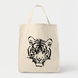 Wild Tiger Grocery Tote Bag