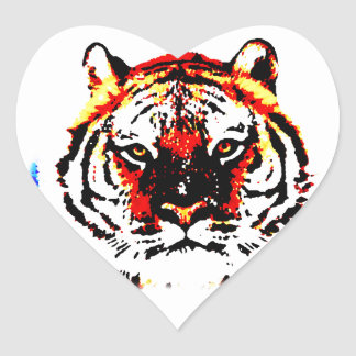 Wild Tiger Heart Sticker