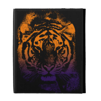 Wild Tiger in the dark iPad Folio Cover