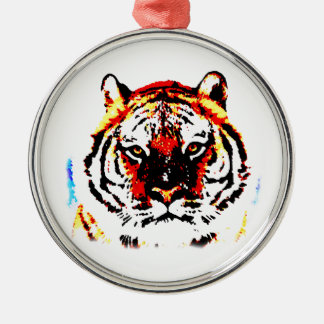 Wild Tiger Metal Ornament