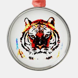 Wild Tiger Metal Ornament
