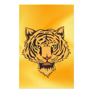 Wild Tiger peace and confidence Stationery Paper